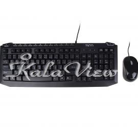 کیبورد کامپیوتر تسکو TKM 8054N Keyboard With Mouse