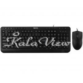 کیبورد کامپیوتر تسکو Tkm 8052 With Mouse With Persian Letters
