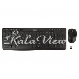 کیبورد کامپیوتر تسکو TKM 7108W Wireless Keyboard and Mouse With Persian Letters
