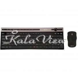 کیبورد کامپیوتر تسکو TKM7106W Keyboard and Mouse With Persian Letters