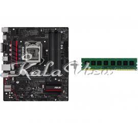 مادربرد کامپیوتر ایسوس B85M GAMER with Geil Pristine 4GB DDR3 1600MHz