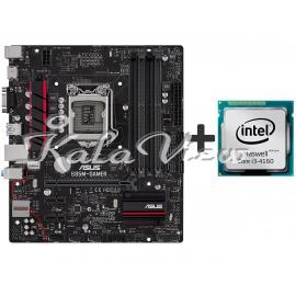 مادربرد کامپیوتر ایسوس B85M GAMER with Intel Haswell Core i3 4160
