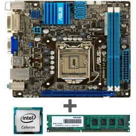 مادربرد کامپیوتر ایسوس P8H61 I LX with Intel G1610 CPU with Patriot 2GB DDR3 1600MHZ RAM