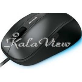 ماوس کامپیوتر مایکروسافت Comfort Wired Blue Track 4500 4FD 00004