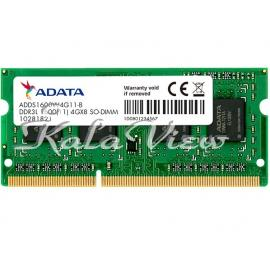 رم لپ تاپ Adata DDR3L( PC3L ) 1600( 12800 ) 4GB CL11 Single Channel
