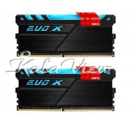 رم کامپیوتر Geil Evo X DDR4 3200Mhz Cl16 Dual Channel 16Gb