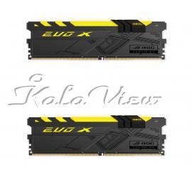 رم کامپیوتر Geil Evo X ROG CERTIFIED DDR4( PC4 ) 3000( 24000 ) 16GB CL15 Dual Channel