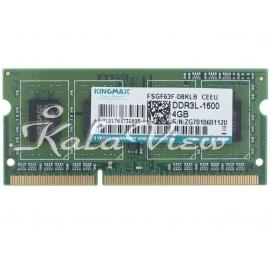 رم لپ تاپ Kingmax DDR3L( PC3L ) 1600( 12800 ) 4GB Single Channel