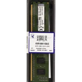 رم کامپیوتر Kingston Valueram DDR3( PC3 ) 1600( 12800 ) 2GB Cl11 Single Channel