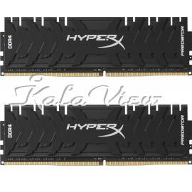 رم کامپیوتر کینگستون HyperX Predator DDR4 3000MHz CL15 Dual Channel RAM  32GB