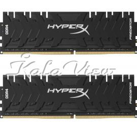 رم کامپیوتر کینگستون Hyperx Predator DDR4 3000Mhz Cl15 Dual Channel 16Gb