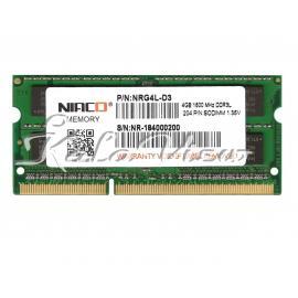 رم کامپیوتر Niaco NRG4L D3 DDR3L( PC3L ) 1600( 12800 ) 4GB