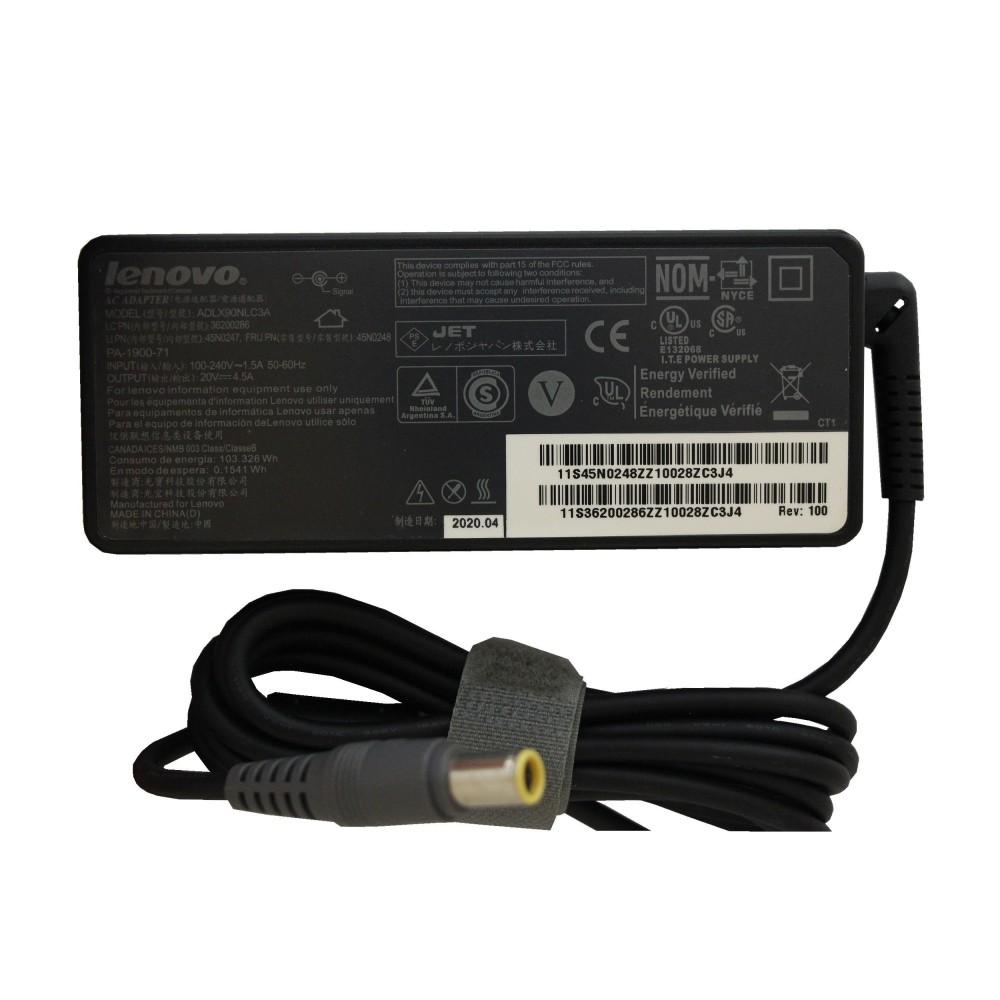 شارژر لپ تاپ لنوو 20ولت 4.5آمپر