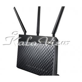 مودم و روتر شبکه ایسوس DSL AC68U Dual Band Wireless AC1900 Gigabit ADSL VDSL