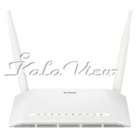 مودم و روتر شبکه D link DSL 2750U New N300 ADSL2+ Wireless Router