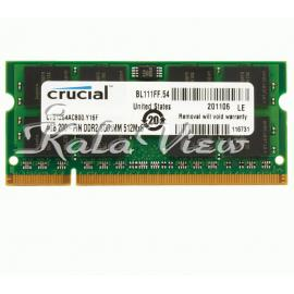 رم لپ تاپ Crucial DDR2( PC2 ) 800( 6400 ) 4GB