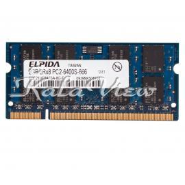 رم لپ تاپ Elpida DDR2( PC2 ) 800( 6400 ) 2GB