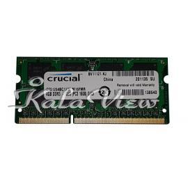 رم لپ تاپ Crucial DDR3( PC3 ) 1333( 10600 ) 4Gb