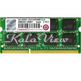 رم لپ تاپ Transcend DDR3( PC3 ) 1333( 10600 ) 4GB CL9 Sodimm