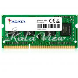 رم لپ تاپ  Adata DDR3L( PC3L ) 1600( 12800 ) 8GB CL11 Sodimm